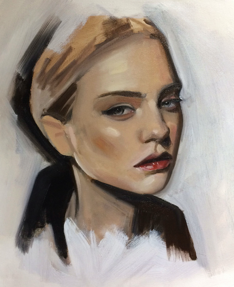 (CreativeWork) Stella by Anthony McMenamin. oil-painting. Shop online at Bluethumb.