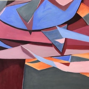 (CreativeWork) Cutout by Sue Fuller. oil-painting. Shop online at Bluethumb.