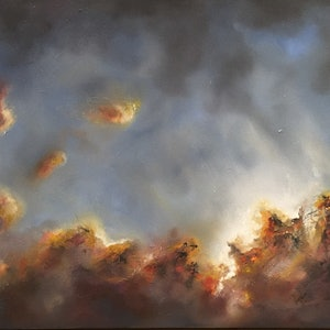 (CreativeWork) Breaking through by Victoria Easby. oil-painting. Shop online at Bluethumb.