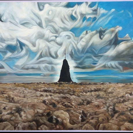 (CreativeWork) Cairn no. 1 Mount Greenoch by Chris Hislop. Oil Paint. Shop online at Bluethumb.