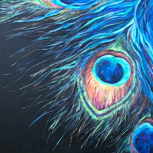 (CreativeWork) Alluring Eye by Patrycja Whipp. arcylic-painting. Shop online at Bluethumb.