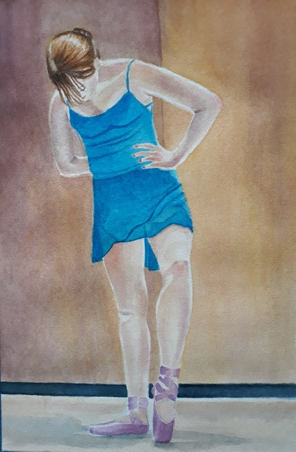 (CreativeWork) Getting ready by Svetlana Cook. watercolour. Shop online at Bluethumb.