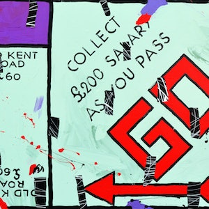 (CreativeWork) Old Kent Road by Ben Tankard. arcylic-painting. Shop online at Bluethumb.