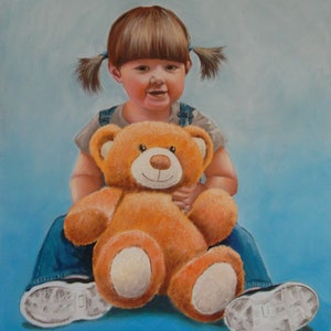 (CreativeWork) Best Friends Forever by Paul Bennett. oil-painting. Shop online at Bluethumb.