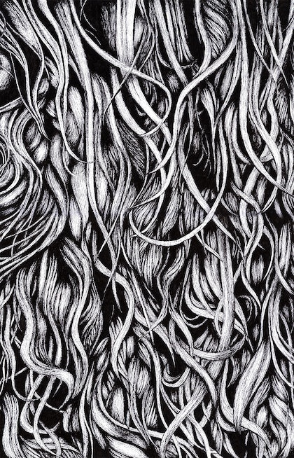 (CreativeWork) Tangled by Kezia Albores. drawing. Shop online at Bluethumb.