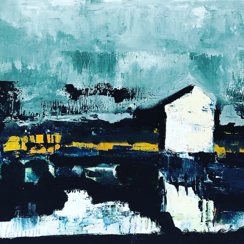 (CreativeWork) Flood  by Sharon Monagle. arcylic-painting. Shop online at Bluethumb.
