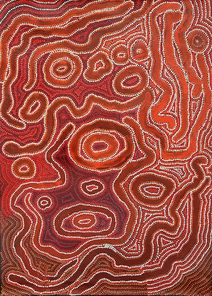 (CreativeWork) Nguytjuku Ngurra by Ruth Fatt. Acrylic Paint. Shop online at Bluethumb.