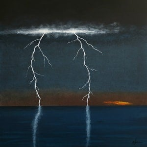 (CreativeWork) The Power Of Two by Barry Johnson. arcylic-painting. Shop online at Bluethumb.