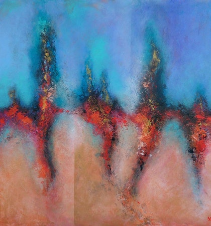 (CreativeWork) Dancing With Icarus by Lou White. arcylic-painting. Shop online at Bluethumb.