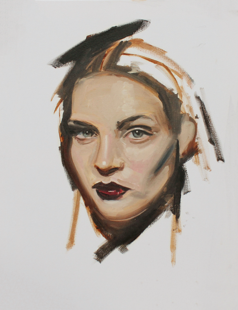(CreativeWork) Frejya by Anthony McMenamin. oil-painting. Shop online at Bluethumb.