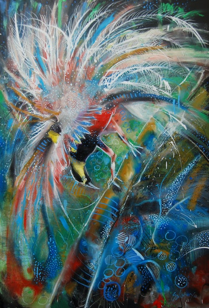 (CreativeWork) pomp and ceremoniously splendid by Trevor Salisbury. oil-painting. Shop online at Bluethumb.