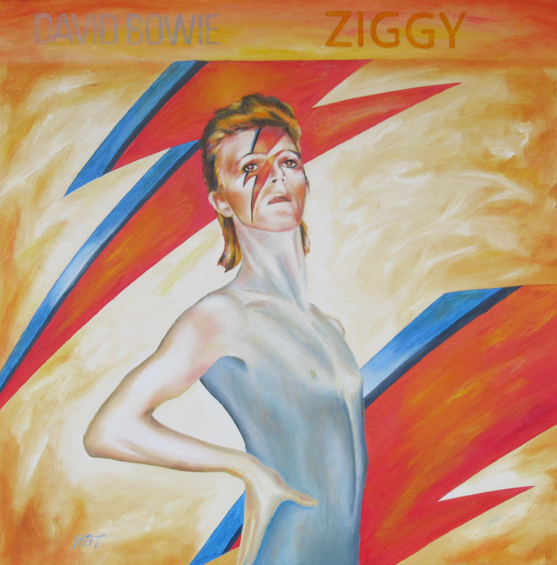 (CreativeWork) Ziggy by Rory Brockman-Tanham. oil-painting. Shop online at Bluethumb.