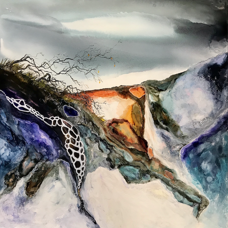 (CreativeWork) Middle Earth by Meg Lewer. other-media. Shop online at Bluethumb.