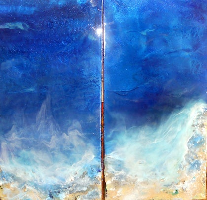 """(CreativeWork) """"Side by Side"""" by linda bartlett. resin. Shop online at Bluethumb."""