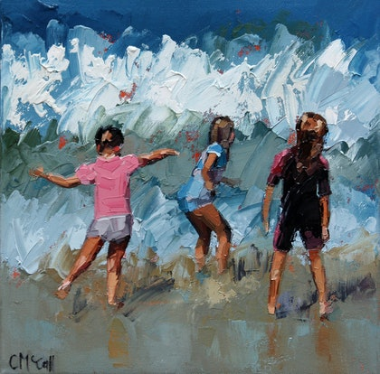 (CreativeWork) Braving The Waves V Limited Edition Giclee Print Ed. 1 of 100 by Claire McCall. print. Shop online at Bluethumb.