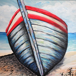 (CreativeWork) Beached  by Wendy Hocking. arcylic-painting. Shop online at Bluethumb.
