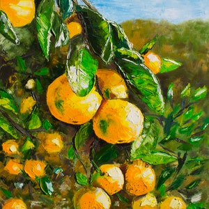 (CreativeWork) Mandarins inspiration by Anastasiia Sutula. oil-painting. Shop online at Bluethumb.