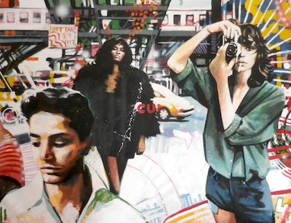 (CreativeWork) NY Street Color by Thomas Saliot. oil-painting. Shop online at Bluethumb.