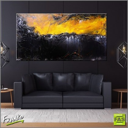 (CreativeWork) Burnt Horizon 190cm x 100cm  Huge sienna outback landscape texture acrylic gloss finish by _Franko _. arcylic-painting. Shop online at Bluethumb.