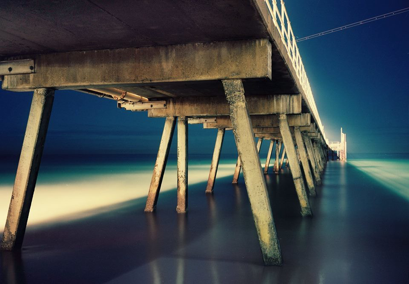 (CreativeWork) Jetty Nocturne (iii) by Alex Frayne. photograph. Shop online at Bluethumb.