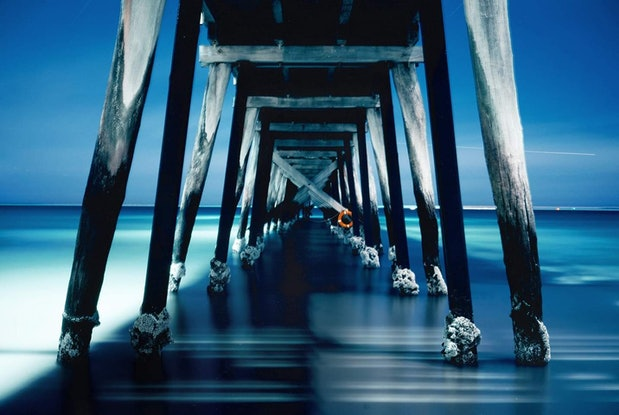 (CreativeWork) Jetty Nocturne (iv) Ed. 1 of 1 by Alex Frayne. Photograph. Shop online at Bluethumb.
