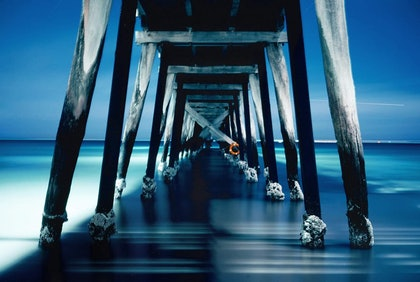 (CreativeWork) Jetty Nocturne (iv) by Alex Frayne. photograph. Shop online at Bluethumb.