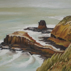(CreativeWork) Cape Schanck 2 by Jordi Casasayas. oil-painting. Shop online at Bluethumb.