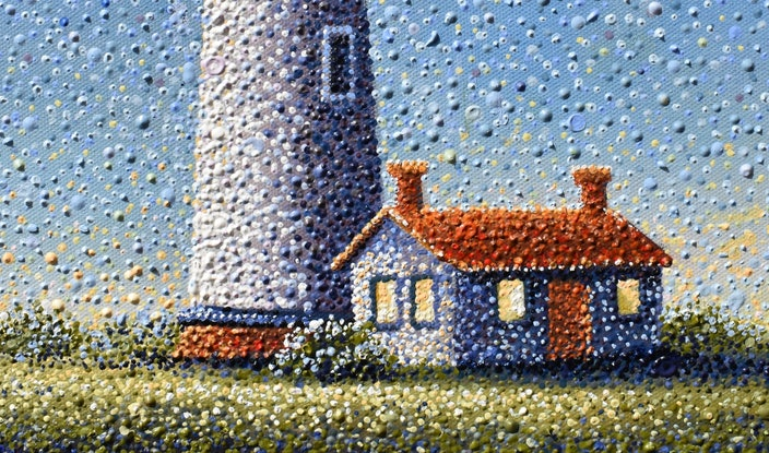 (CreativeWork) THE LIGHTHOUSE by Janette Hafez. Oil Paint. Shop online at Bluethumb.