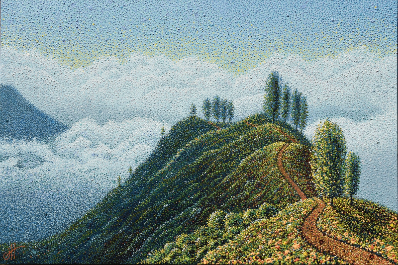 (CreativeWork) BETWEEN HEAVEN & EARTH by Janette Hafez. Oil Paint. Shop online at Bluethumb.
