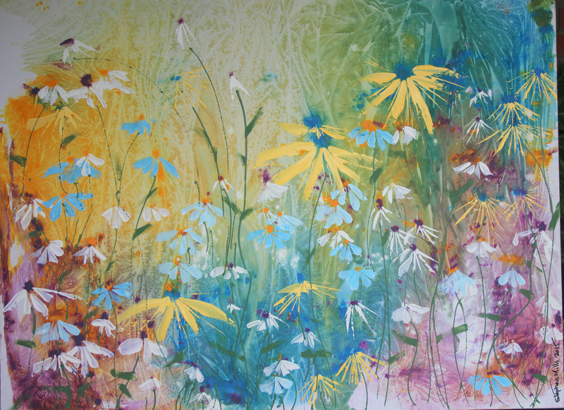 (CreativeWork) Spring by Stephen Mills. arcylic-painting. Shop online at Bluethumb.