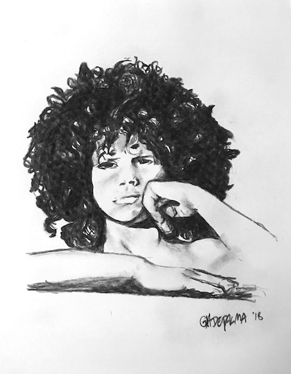 (CreativeWork) Young Saul (GnR's Slash age 6) by Gia De Palma. drawing. Shop online at Bluethumb.