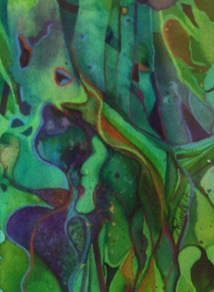 (CreativeWork) Forest Queen by Ann Russell. mixed-media. Shop online at Bluethumb.