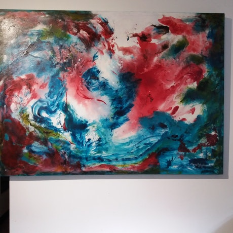 (CreativeWork) Dance of the Sea Nymphs by Nancy Anderson. Oil Paint. Shop online at Bluethumb.