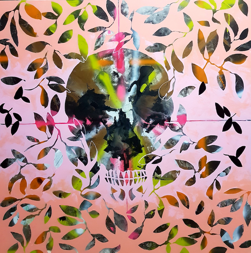 (CreativeWork) skull by Nicholas Rutten. mixed-media. Shop online at Bluethumb.