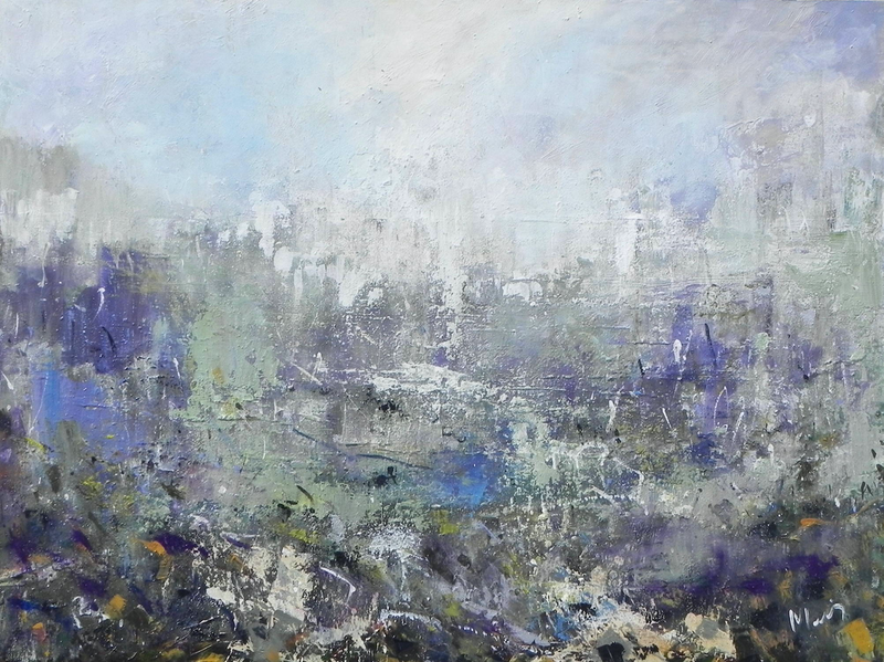 (CreativeWork) Misty by Liz Muir. oil-painting. Shop online at Bluethumb.