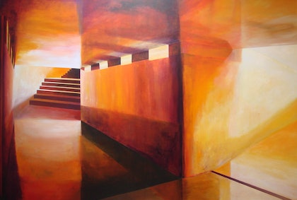 (CreativeWork) Interlude No. 2 by Adam Fisher. arcylic-painting. Shop online at Bluethumb.