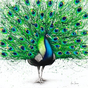 (CreativeWork) Pavo Indigo by Ashvin Harrison. arcylic-painting. Shop online at Bluethumb.