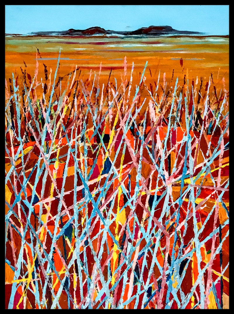 (CreativeWork) Spinifex in the desert by Robyn Jackson. arcylic-painting. Shop online at Bluethumb.