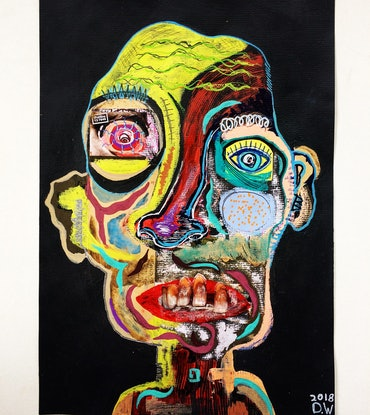 (CreativeWork) Genius  by Dominic White. Mixed Media. Shop online at Bluethumb.