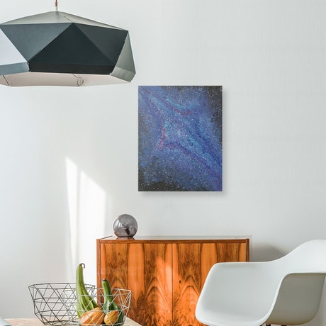 (CreativeWork) ***PRICE REDUCED** Galaxies by Anjana Varma. Oil Paint. Shop online at Bluethumb.