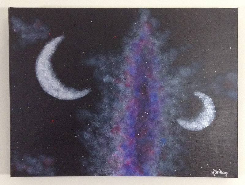 (CreativeWork) The Final Frontier by Kimberley Nean. arcylic-painting. Shop online at Bluethumb.