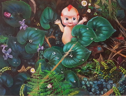 (CreativeWork) Forest floor III by Llael McDonald. oil-painting. Shop online at Bluethumb.