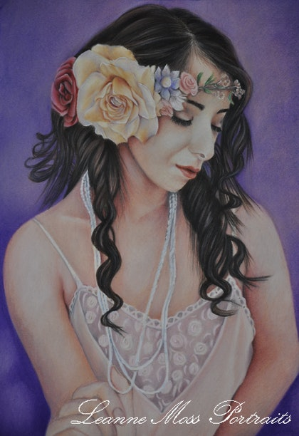 (CreativeWork) Timeless Beauty by Leanne Moss. drawing. Shop online at Bluethumb.