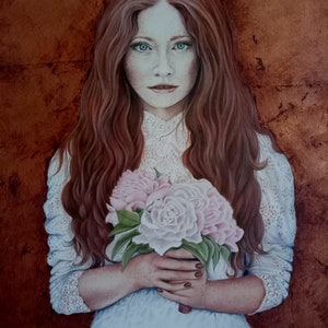 (CreativeWork) The Beauty of Innocence by Leanne Moss. mixed-media. Shop online at Bluethumb.