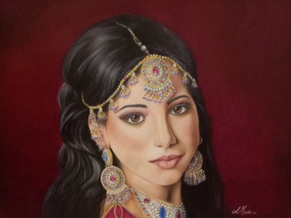 (CreativeWork) Bejewelled Beauty by Leanne Moss. drawing. Shop online at Bluethumb.