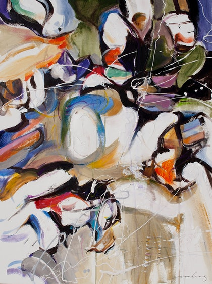 (CreativeWork) Harbour View Abstract2 by Soo Beng Lim. mixed-media. Shop online at Bluethumb.