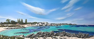 (CreativeWork) The Basin, Rottnest Island, Western Australia by Janette Drysdale. oil-painting. Shop online at Bluethumb.