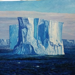 (CreativeWork) BLOCK OF FLATS-ANTARCTICA by Margaret HADFIELD. oil-painting. Shop online at Bluethumb.
