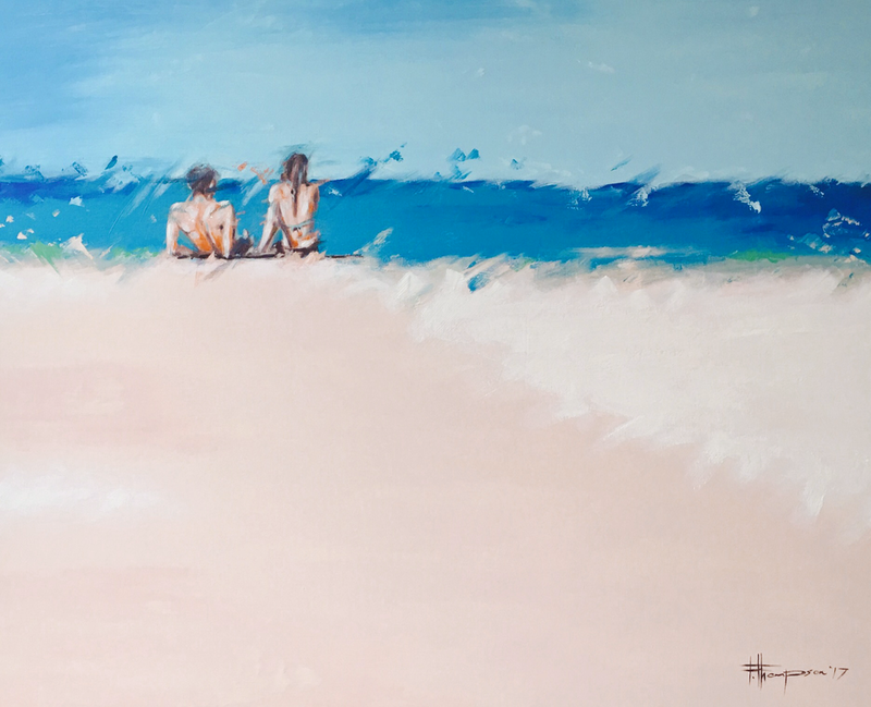 (CreativeWork) Lazy day by Fred Thompson. arcylic-painting. Shop online at Bluethumb.