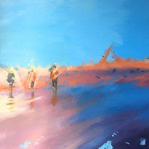 (CreativeWork) Summer Heat by Fred Thompson. arcylic-painting. Shop online at Bluethumb.